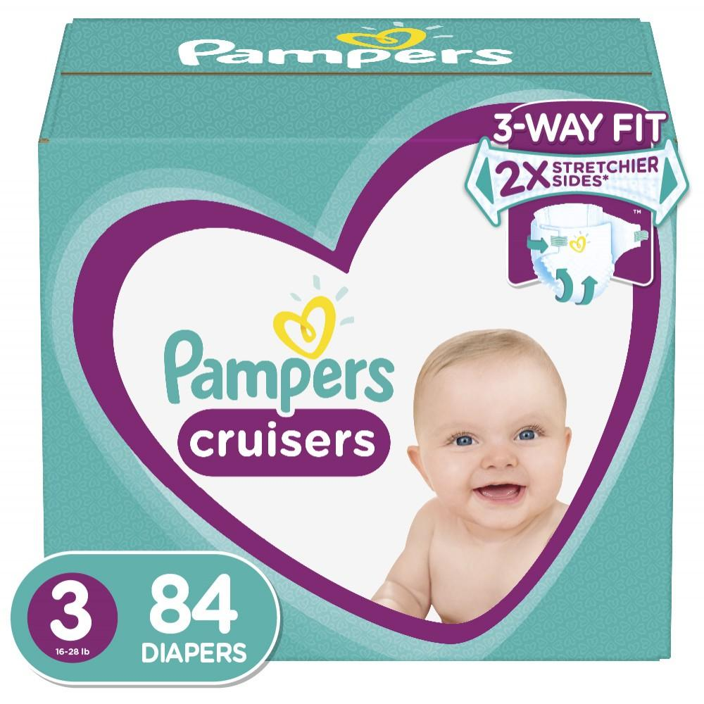 Pampers Cruisers Active Fit Diapers, Size 3, 84 Ct