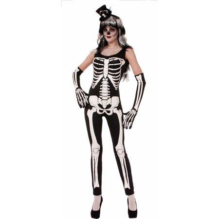Women's Skeleton Jumpsuit Halloween Costume - Womens Skeleton Outfit