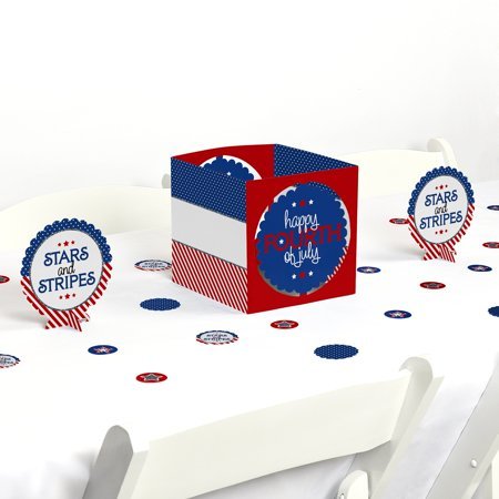 4th of July - Independence Day Party Centerpiece & Table Decoration Kit (4th Of July Table Centerpieces)