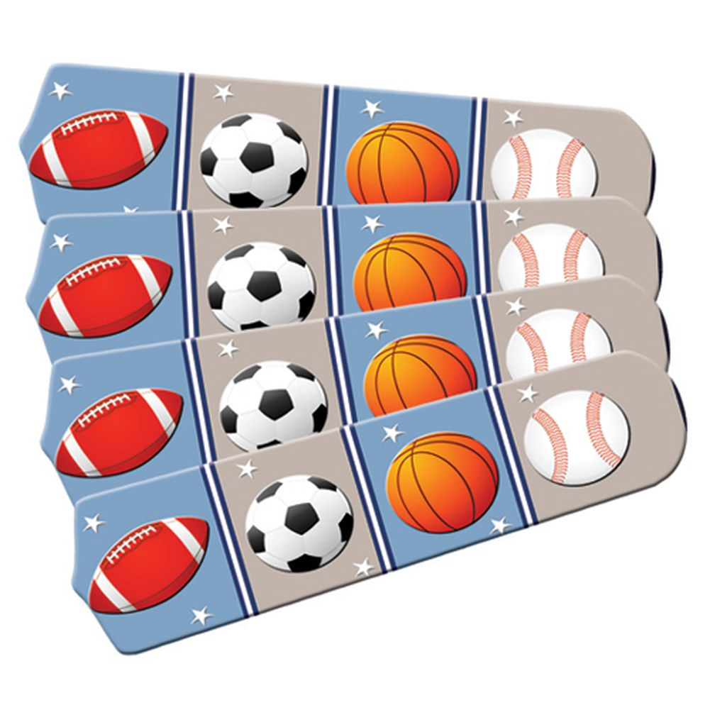 Sports Balls Designer 42in Ceiling Fan Blades Set