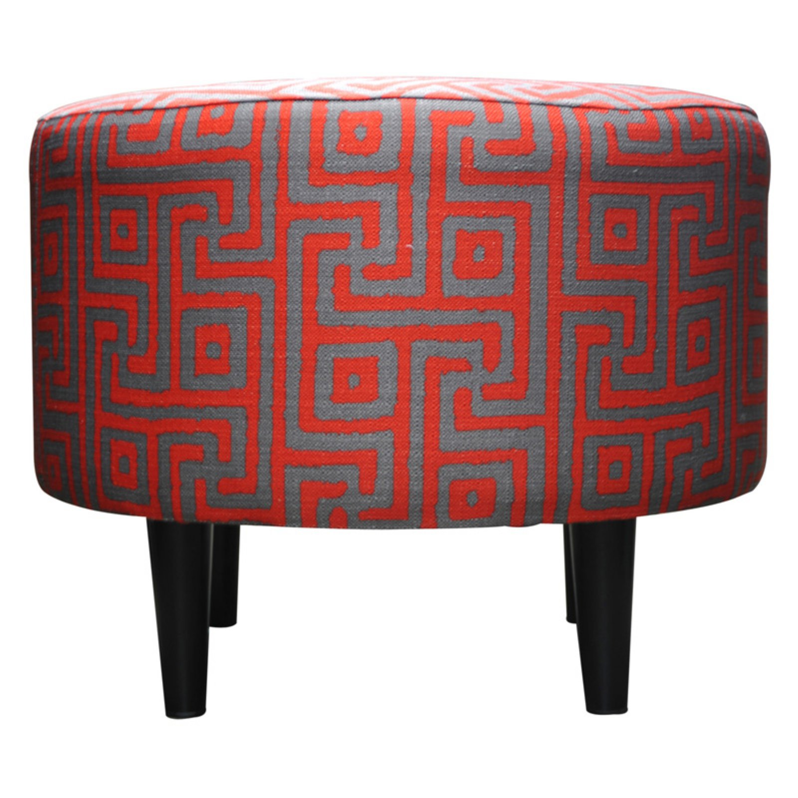 Sole Designs Geometric Sophia Collection Upholstered Ottoman