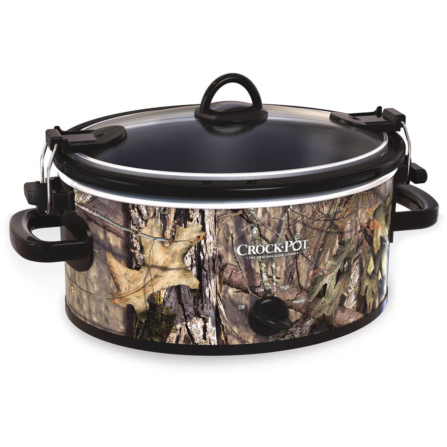 Crock-Pot 5-Quart Cook & Carry Slow Cooker, Mossy Oak