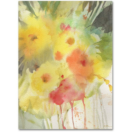 Trademark Fine Art 'Wooded Floral' Canvas Art by Sheila Golden