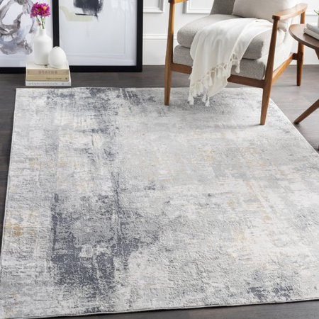 17 Stories Anwen Distressed Light Gray Area Rug