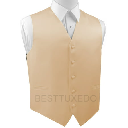 Italian Design, Men's Tuxedo Vest, in Champagne