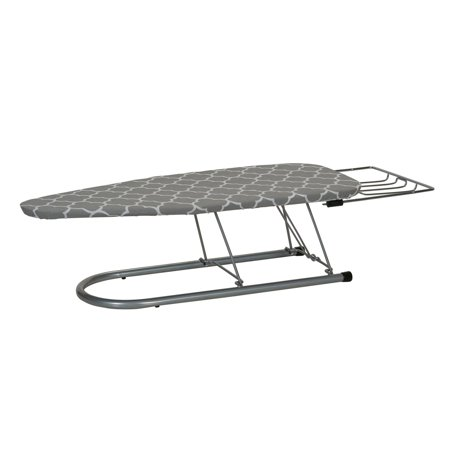 - Household Essentials Steel Top Tabletop Ironing Board with Iron Rest, Silver