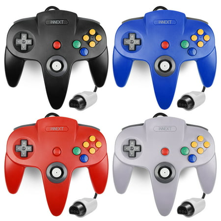 N64 Gaming Classic Controller, iNNEXT Retro N64 Wired Gaming Gamepad Controller Joystick for N64 System Home Video Game Console(Black) (Classic Joystick For Pc)