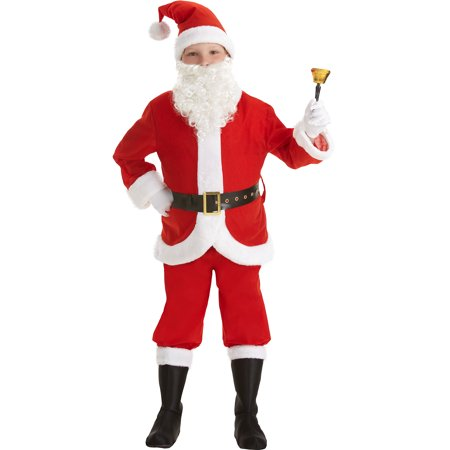 Amscan Santa Suit for Boys, Christmas Costume, Small, with Included