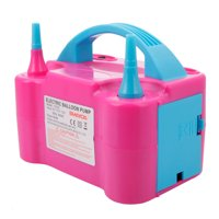 Portable Electric Balloon Pump (US Standard) 600W 110V Rose Red & Blue