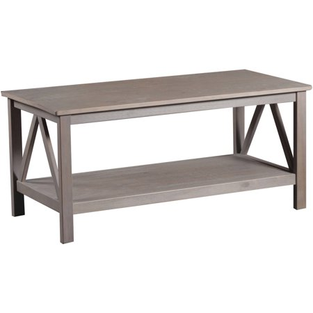 Linon Titian Coffee Table Rustic Gray 20 Inches Tall