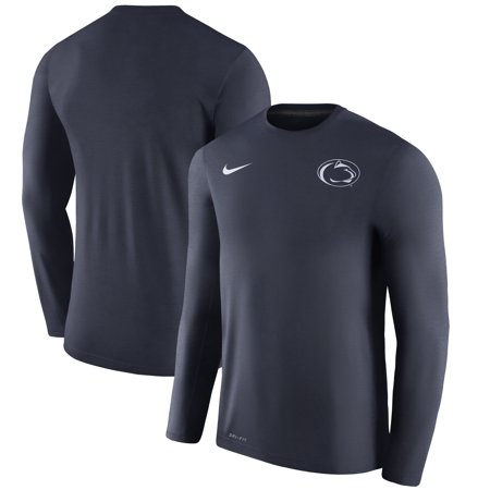 Penn State Nittany Lions Nike 2017 Coaches Touch Long Sleeve Performance T-Shirt - Heathered Navy