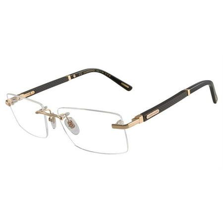 chopard eyeglasses vchb73 vch/b73 0300 shiny gold rimless optical frame