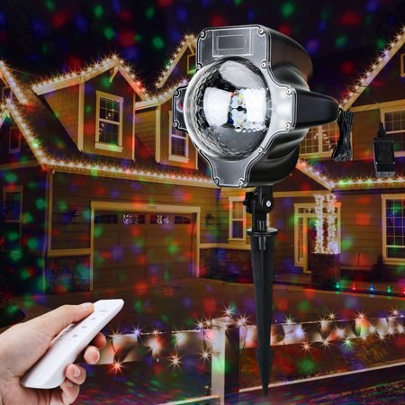 Lampwin Projector Light RGB Maple Waterproof Landscape Projection Decoration with Remote Controller for Halloween, - Rear Projection Material Halloween