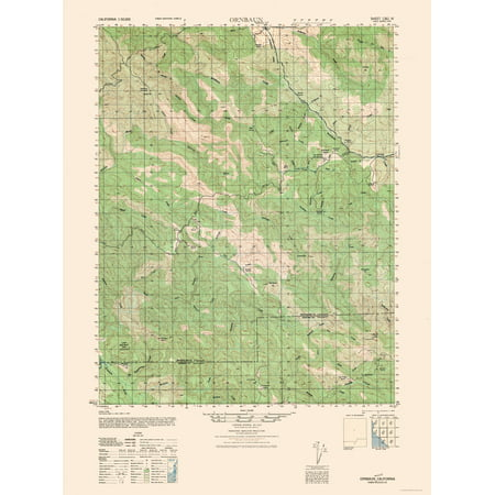 Topographic Map - Ornbaun California Sheet - Army 1944 - 23 x 30.91 ...
