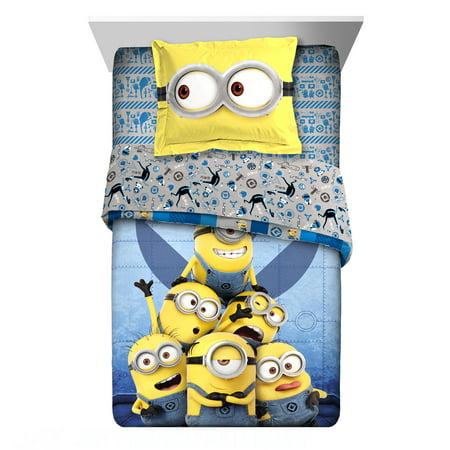 Universal Minion Follow Mel Twin or Full Comforter with Sham, 2 Piece](Minion Room Decor)