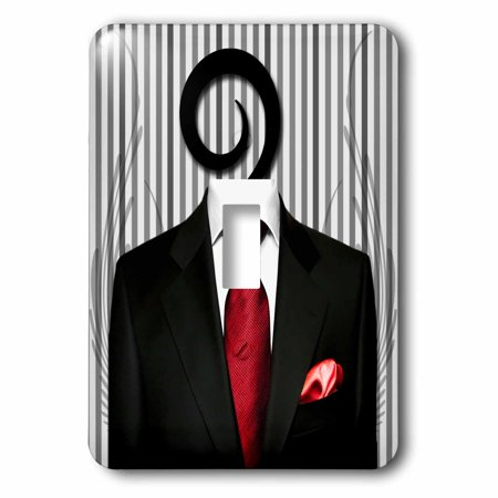 Moen Plug - 3dRose Wedding Mens Suit with Red Tie for the Groom or Groomsman, 2 Plug Outlet Cover