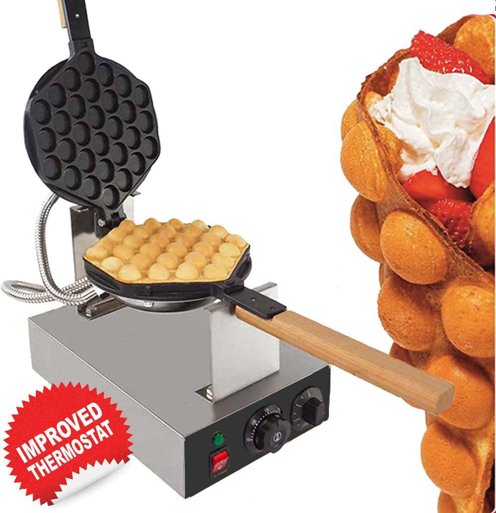 Belgian Waffle Maker Cucinapro Bubble Waffler Black Kitchen Home New