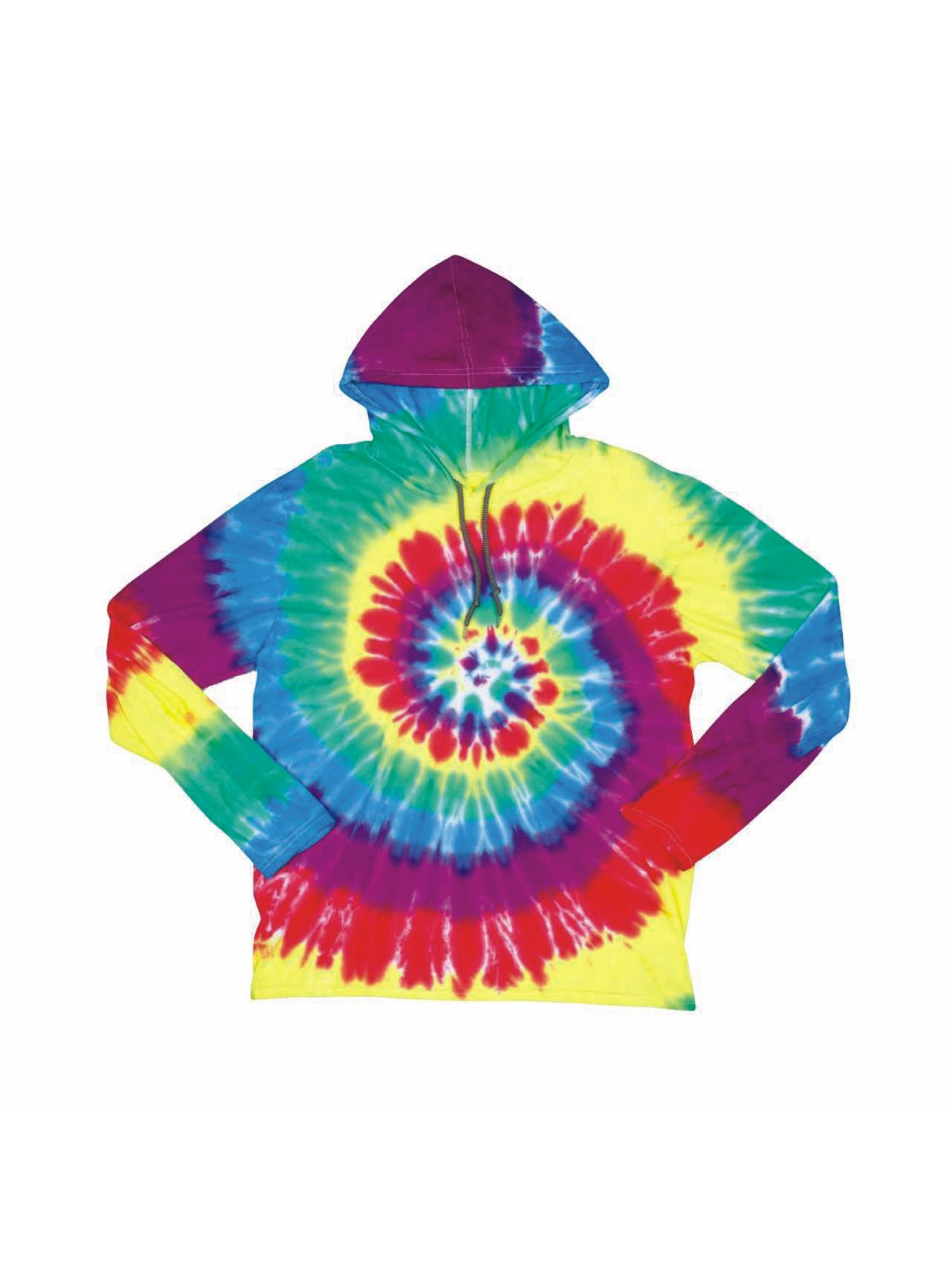 Dyenomite Lightweight Tie-Dye Hooded T-Shirt Hoodie