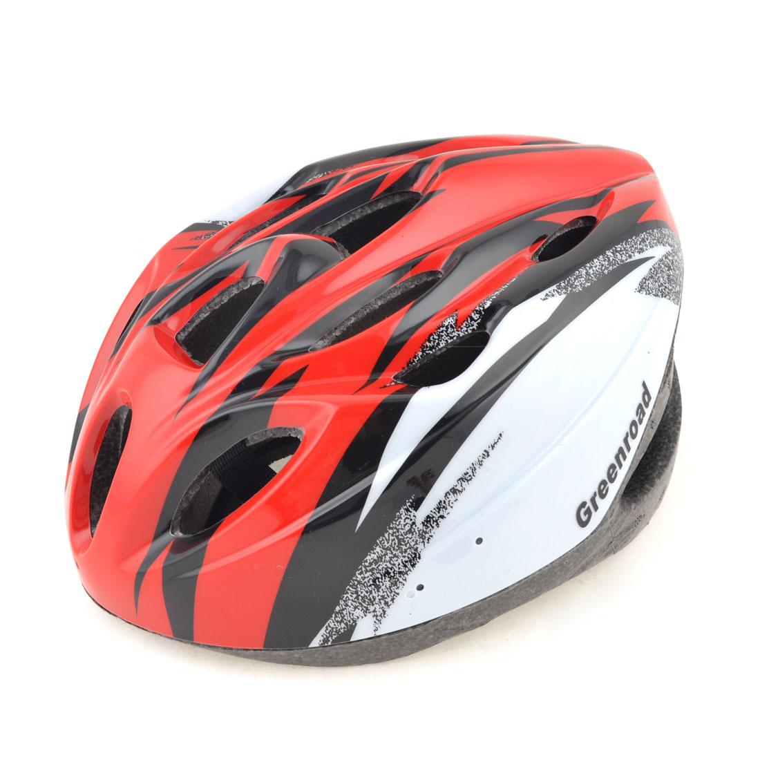 Women Men Skateboard Skiing Racing Bicycle Bike Sports Helmet Red Stripe