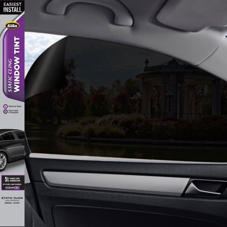 Gila® Static Cling 5% VLT Automotive Window Tint DIY Easy Install Glare Control Privacy 2ft x 6.5ft (24in x