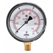 WINTERS PLP306 Low Pressure Gauge,Bottom,0 to 10 psi