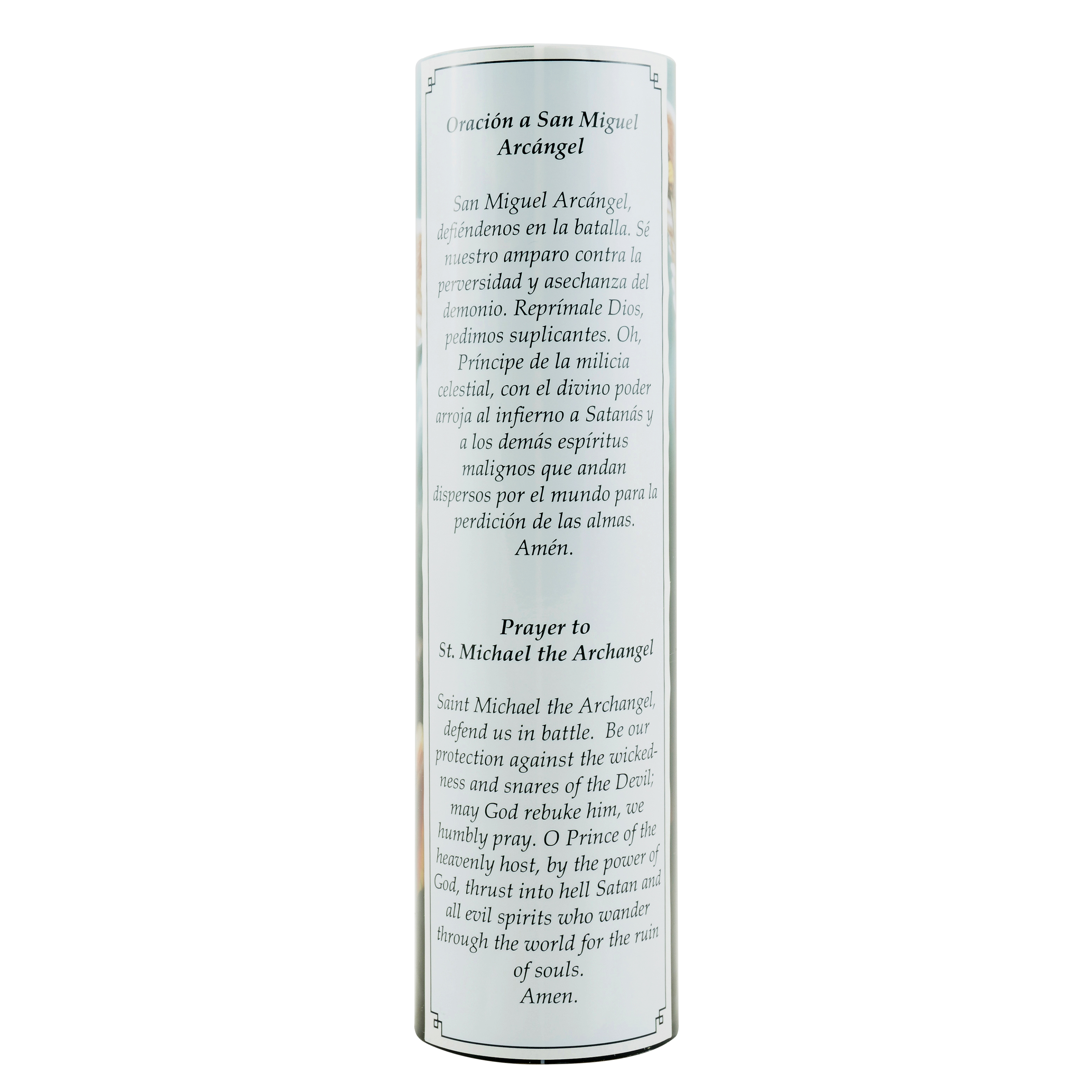 LED Prayer Candle, St Michael