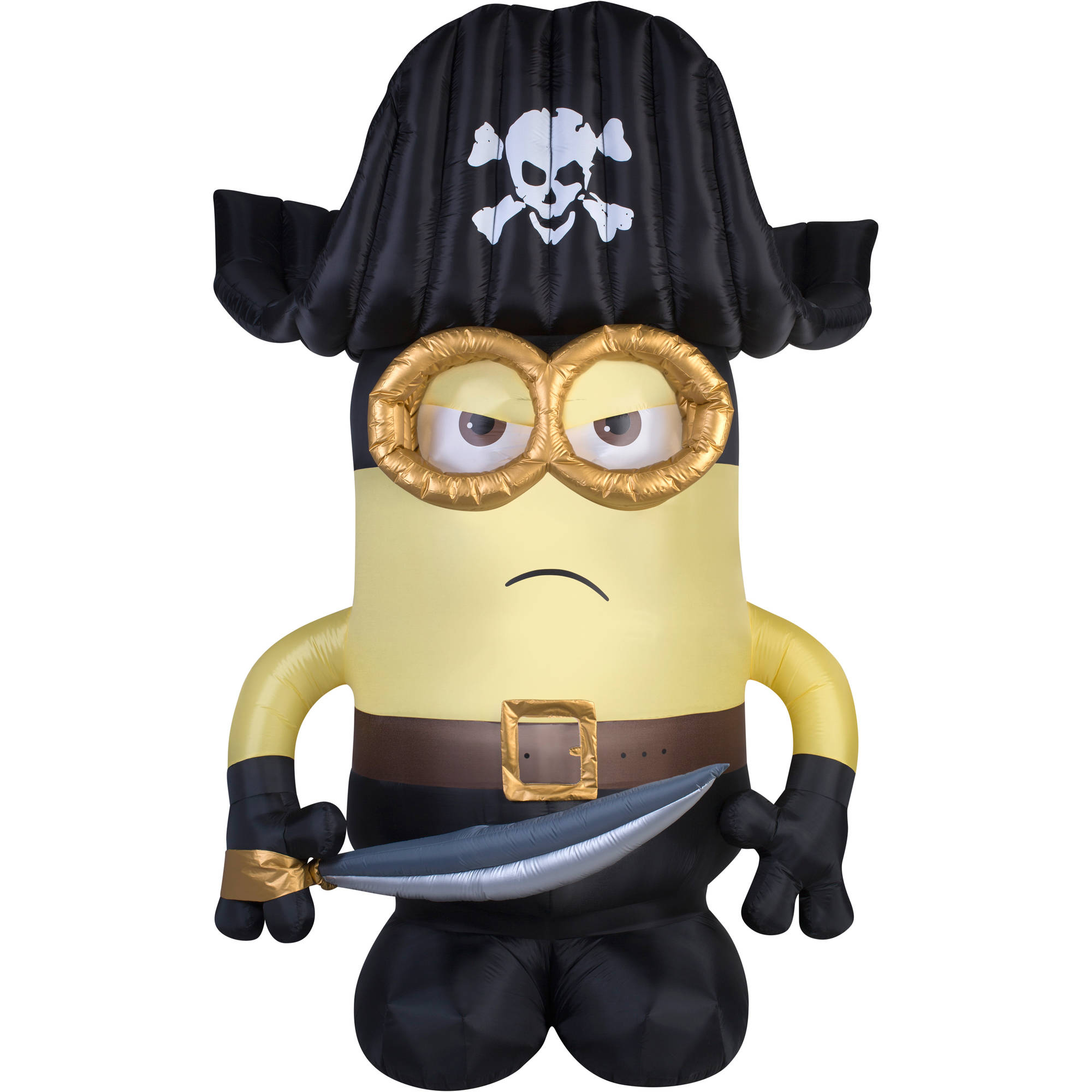 gemmy airblown inflatable 9 x 6 giant eye pirate matie minion halloween decoration walmartcom - Outdoor Inflatable Halloween Decorations