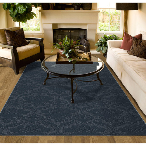 Victorian Cut-and-Loop Patterned Olefin Area Rug