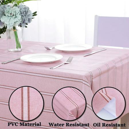 "Tablecloth PVC Vinyl Oil Stain Resistant Wedding Table Cloth 54"" x 71"", #9 - image 2 de 7"