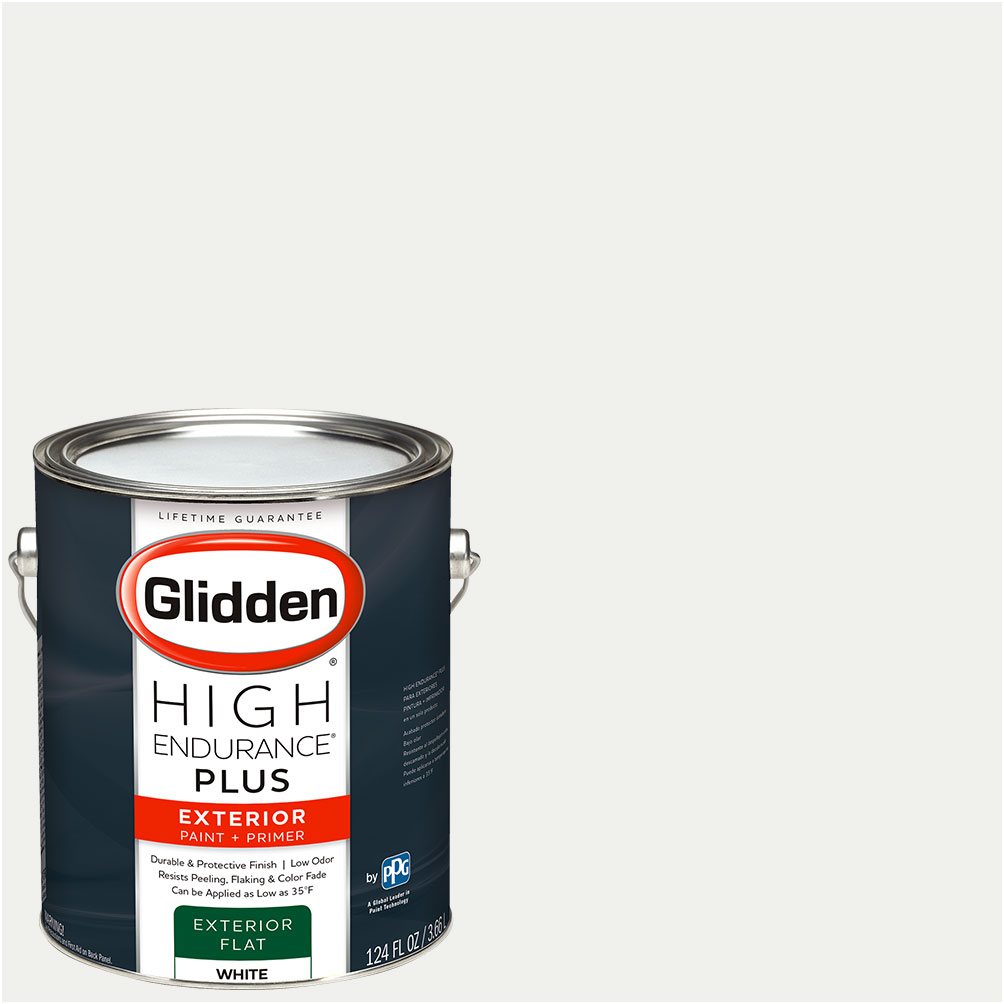 Glidden High Endurance Plus Exterior Paint And Primer Ready Mix White Walmart Com Walmart Com