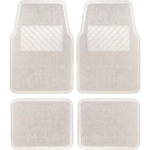 Remington Industries 4pc Vinyl Mat Set, Clear