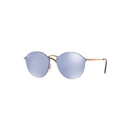 59mm Blaze Mirrored Round Sunglasses