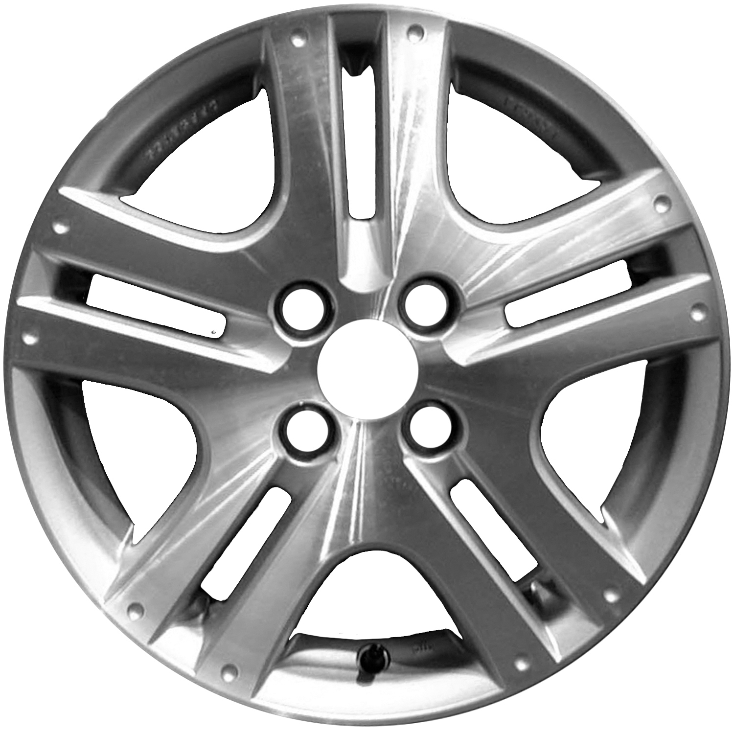 2007-2008 Honda Fit  15x6 Alloy Wheel, Rim Bright Sparkle Silver Painted with Machined Face-63917