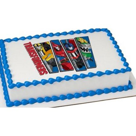 Transformers 1/4 Sheet Edible Cake Image Topper Birthday Party