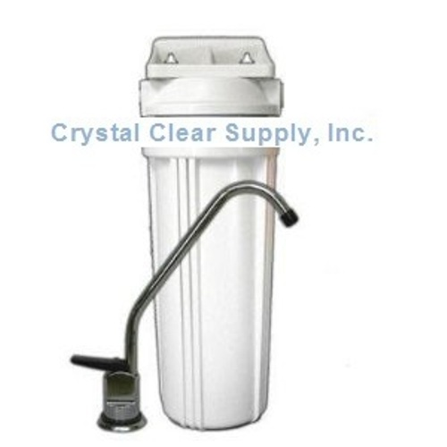 Carbon Block Under Counter Water Filter 8,000 Gallon Rating by Crystal Clear Supply