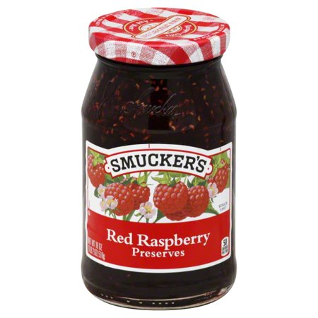 Smuckers Red Raspberry Preserves  18 Oz