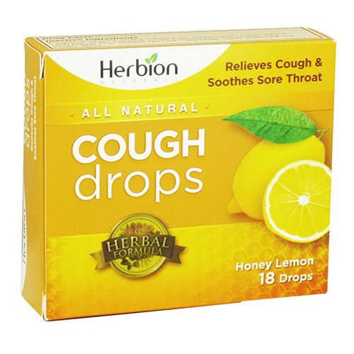 Herbion Cough Drops Honey Lemon, 18 lozenge