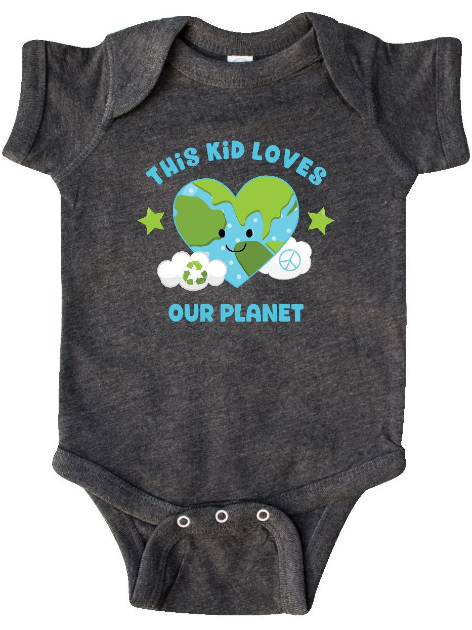 inktastic Earth Day Recycle Flowers Infant Creeper