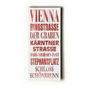 Artehouse LLC Vienna Transit by Cory Steffen Textual Art Plaque