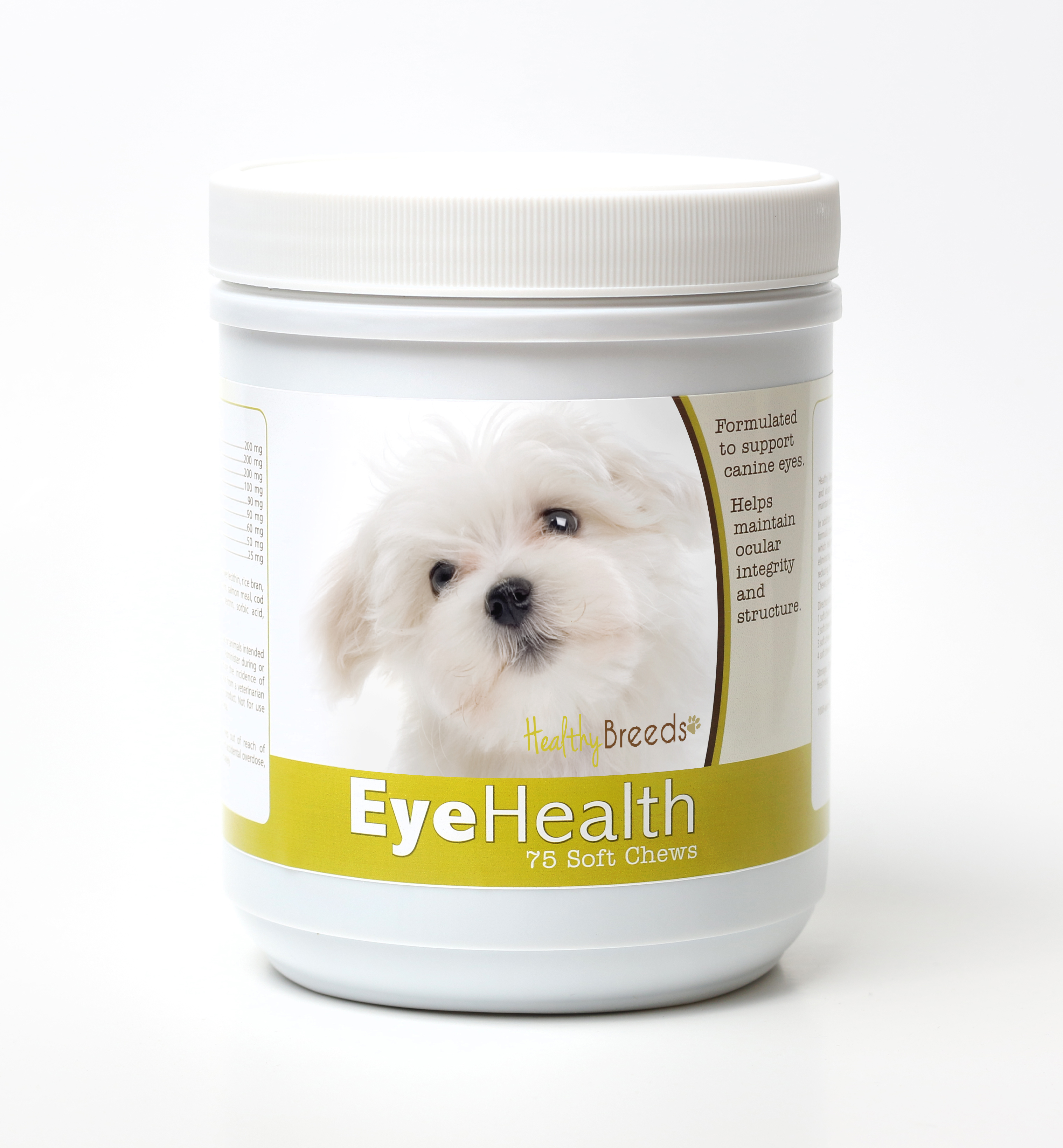 Healthy Breeds Dog Eye Health Support Soft Chews for Maltese 75 Count