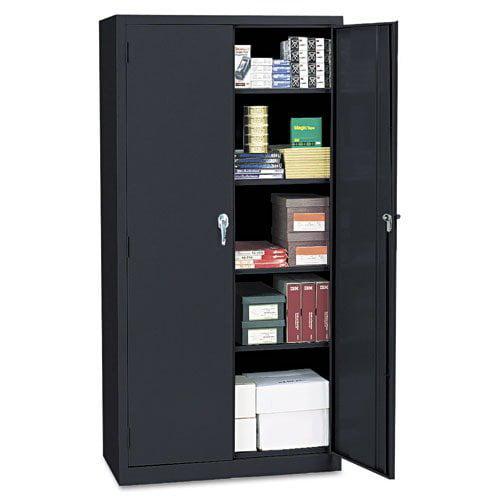 Alera Economy Assembled 72'' Storage Cabinet in Black