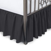 Solid Ruffled Bed Skirt with Split Corners
