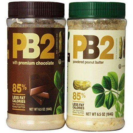 Bell Plantation PB2 Powdered Peanut Butter - 2 Flavor Variety Pack Size: 6.5oz Variety Pack Peanut Flavored Sauce
