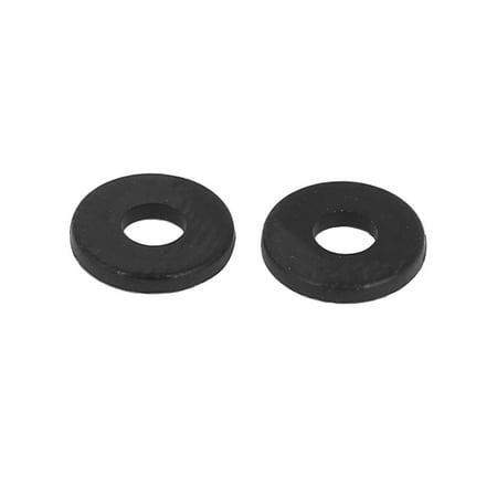 M3 x 8mm x 1mm Round Flat Nylon Shoulder Washer Gasket Seal Rings 100 Pcs - image 1 of 2