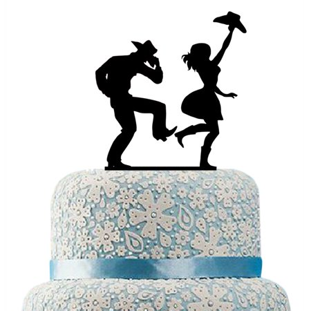 Cowboy And Cowgirl Cake Topper