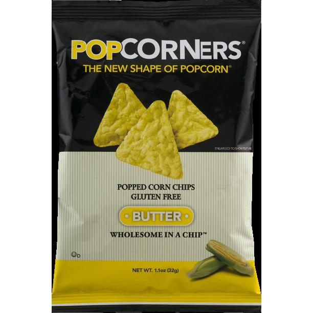 Popcorners Popped Corn Chips Gluten Free Butter 1 1 Oz Walmart Com Walmart Com