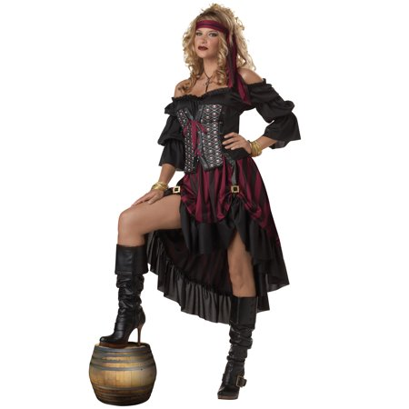 Pirate Wench Adult Costume](Female Pirate Costume Makeup)
