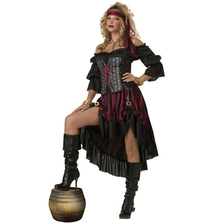 Pirate Wench Adult Costume - Beer Wench Costume Plus Size