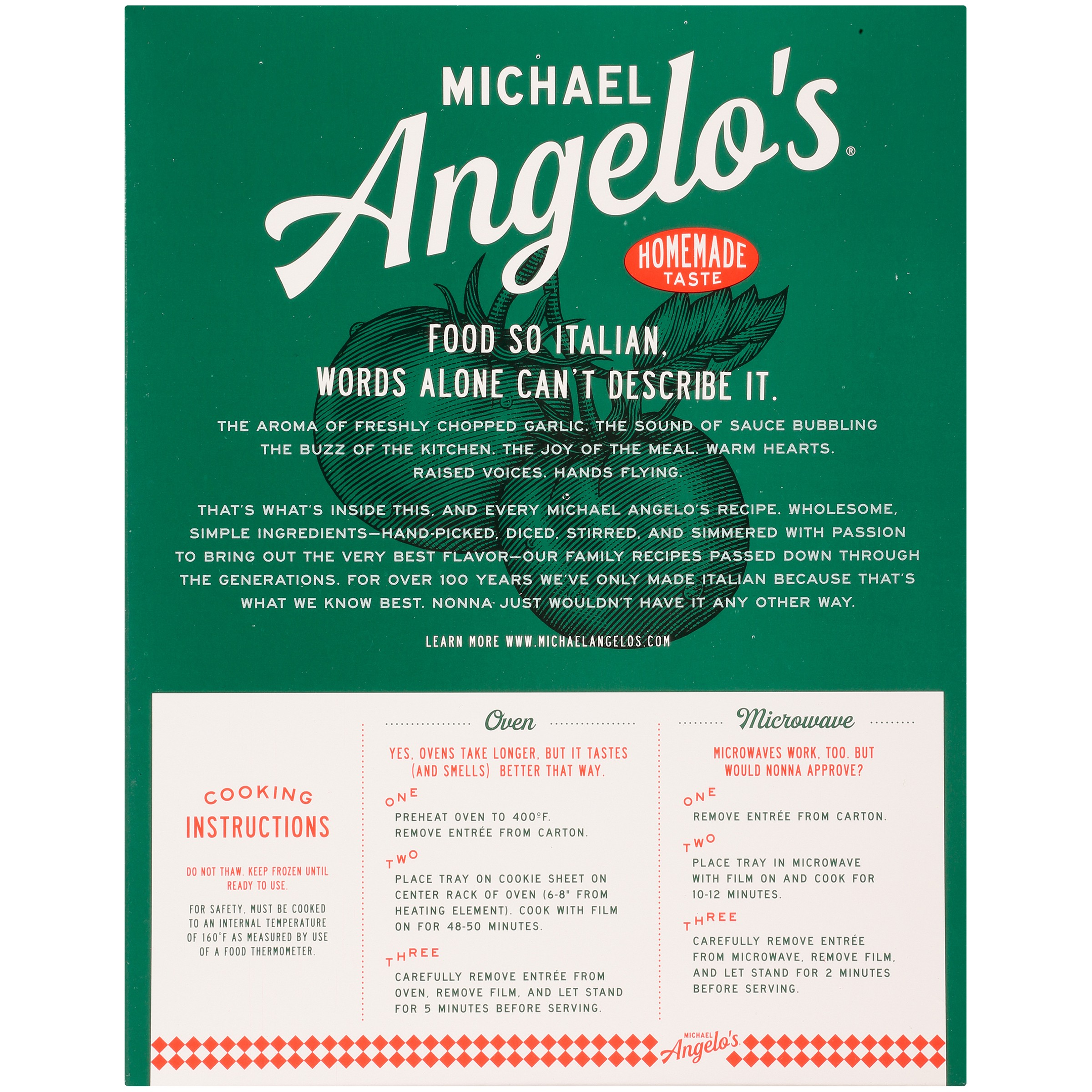 Michael Angelo\'s Lasagna with Meat Sauce, 32 oz - Walmart.com