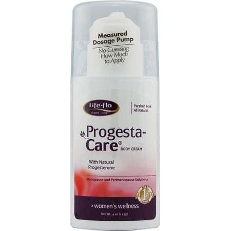 Progesterone Cream Pump (Life Flo Progesta-Care Progesterone Body Cream, 4 Oz )